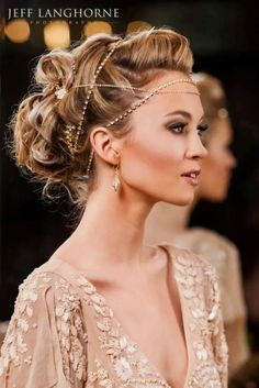 Beautiful Bridal or Red Carpet Hairstyle with jewelry! eSalon.com