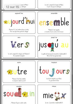 French Classroom, French Immersion, Cycle 3, French Lessons, Learn French, Cursive, Teaching Tools, Vocabulary, Language