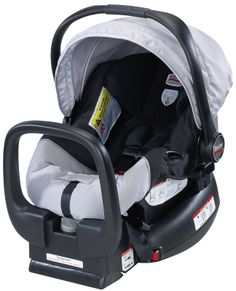 Britax Chaperone Infant Carrier in Black and Silver....Britax is the ONLY car seat I will allow!! They have such high safety ratings...and look good!