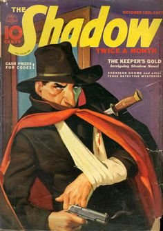 October, 1937 Case File all those interested in a good article regarding a new pulp art exhibition in Florida visit this. Pulp Fiction Characters, Pulp Fiction Comics, Vintage Book Covers, Comic Book Covers, Sci Fi Books, Comic Books, Pulp Magazine, Halloween Books, Comics