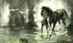 Ico & Shadow Of The Colossus w Shadow Of The Colossus, Giant Bomb, Fanart, Film Serie, Fantasy Creatures, Legend Of Zelda, Anime Manga, Les Oeuvres, Game Art