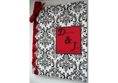 Damask Wedding Guest Book/Photo Album & Monogram - (Custom Colors Available) - TheWeddingMile.com Wedding Guest Book, Wedding Day, Invitation Cards, Invitations, Damask Wedding, Wedding Photo Albums, Newlywed Gifts, Special Day, Etsy