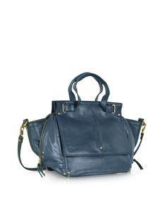 Jerome Dreyfuss Johan Petrol Blue Leather Shoulder Bag at FORZIERI