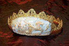 Shell cameo tiara