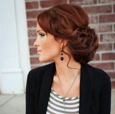 black hair updo hairstyles, colorful blazer outfits, black wedding hairstyles updo, hair colors, red hair outfits, black hair color styles, sexy updo hairstyles, outfits using a black blazer, red pants