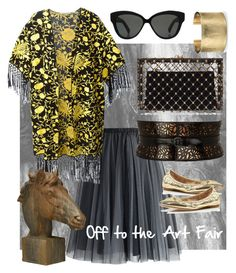 """""""Off to the art fair with Kimono"""" by chong-yanting on Polyvore"""