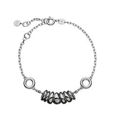 Sweetie goes asymmetric Irregular and tactile Sweetie drops move freely on a fine chain This bracelet can also be personalised with