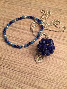Kettingen en armband blauw