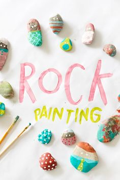 toddler and kids activity rock painting...