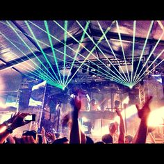 lasers everywhere at Ultra Music Festival.  For more, go to: http://www.fabtabtv.com/ultra-music-festivals-galactic-neon-style/