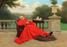 Leo Herrmann (1853-1927) — The Cardinals Nap (841×595)