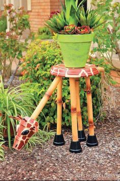 Giraffe plant stand...by Hobby Lobby