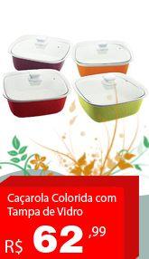 Confira na Casa UD http://casaud.com.br/p/7891060985559/Cacarola+Colorida+com+Tampa+de+Vidro+Roxa+Porzellan