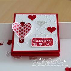 Merci Verpackung zum Valentinstag, Stempel und Papier von Stampin Up