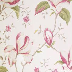 Lilium Wallpaper - Soft Red (LILIUMSOFTREDWP) - iLiv Botanica Soft Red Fabrics