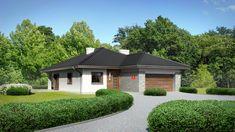 DOM.PL™ - Projekt domu Dom przy Pastelowej 7 CE - DOM EB5-06 - gotowy koszt budowy 100 M2, Gazebo, House Plans, New Homes, Outdoor Structures, Mansions, House Styles, Outdoor Decor, Home Decor