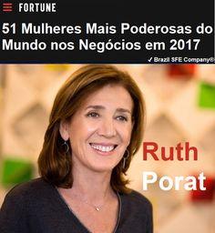 ✔ Brazil SFE Biography®: Ruth Porat - 51 Mulheres Mais Poderosas do Mundo nos Negócios em 2017