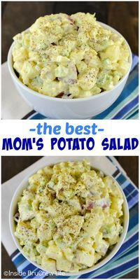 Just a few ingredients makes this potato salad the best side dish!  Perfect for picnics and barbecues! Potato Dishes, Potato Recipes, Food Dishes, Best Side Dishes, Side Dish Recipes, Dinner Recipes, Picnic Side Dishes, Barbecue Side Dishes, Easy Salads