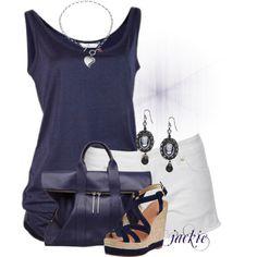 Algunas ideas de combinaciones de ropa para verano.  cuando el calor llegue lo que vamos a querer es andar de calzones cortos y blusas fresc...