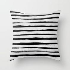 Black and White Stripes II Throw Pillow