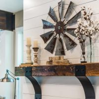 Windmill | Rustic Wood Shelf | Mantel