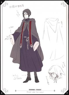 Sebastian Michaelis, PLEASE oh please do not tell me that I was drawn with a.... *Shivers* priest cloak on. I do not wish to be sought as so.