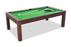 Billiards Convertible into Dining Table - Walnut- Billard Convertible en Table à Manger – Noyer Convertible Billiards Billard Convertible, Stables Bar, Billard Table, Table Dimensions, Dining Table, Fan, Game Props, Pool Table, Play Table
