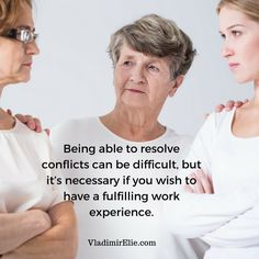 Resolve your conflicts as soon as possible.