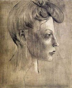 Woman's profile, 1905, Pablo Picasso Size: 29.2x25 cm