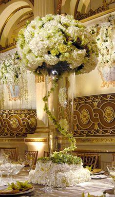 beautiful white and green reception wedding flowers, wedding decor, wedding flower centerpiece, wedding flower arrangement, add pic source on comment and we will update it. www.myfloweraffair.com can create this beautiful wedding flower look.