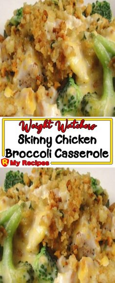 Skinny Chicken Broccoli Casserole – My Recipes Easy Broccoli Casserole, Chicken Broccoli Bake, Chicken And Vegetable Casserole, Healthy Casserole Recipes, Chicken And Vegetables, Healthy Recipes, Meat Recipes, Low Calorie Casserole, Appetizer Recipes