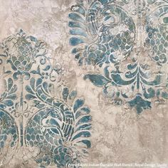 Royal Design Studio Wall Stencils Partners with NovaColor Textured Finishes for Decorative Painters Damask Wall Stencils, Large Wall Stencil, Bird Stencil, Stencil Painting On Walls, Large Stencils, Faux Painting, Texture Painting, Stenciling, Large Wall Murals