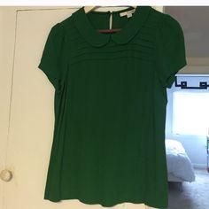 Green Blouse Green Peter Pan collar blouse! Tops Blouses