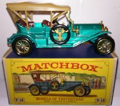 Vintage Matchbox Models of Yesteryear Y-12 1909 Thomas Flyabout Box diecast car picclick.com
