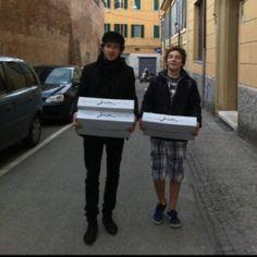 Livraison Clos Sorian ds les rues de Bologne