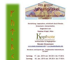 Das grosse Jahresorakel für 2015 in Wien - http://www.renato-strassmann.info/event/das-grosse-jahresorakel-fuer-2015-wien/