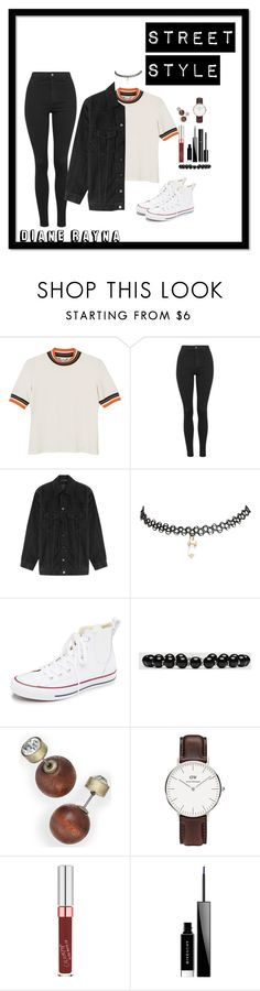 """""""Street Style #258"""" by dianerayna ❤ liked on Polyvore featuring Monki, Topshop, Alexander Wang, Wet Seal, Converse, Gucci, Daniel Wellington, Givenchy and Chanel"""