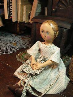 Primitive Folk Art Doll Gail Wilson Style | eBay