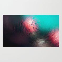 Condensation 34 - Vortex | Teal Area & Throw Rug by Pete Edmunds - $28.00