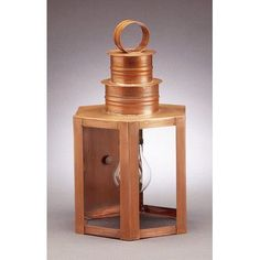 Northeast Lantern Hardwick 1 Light Outdoor Wall Lantern Finish: Raw Brass, Shade Type: Clear Seedy
