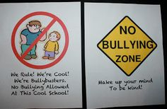 No Bullying Poster Anchor Charts  - Pinned by @PediaStaff – Please Visit ht.ly/63sNtfor all our pediatric therapy pins