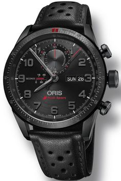 Oris Watch Audi Sport Limited Edition II Set #bezel-bidirectional #bracelet-strap-leather #brand-oris #case-material-titanium #case-width-44mm #chronograph-yes #date-yes #day-yes #delivery-timescale-call-us #dial-colour-black #gender-mens #limited-edition