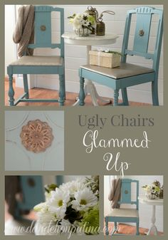 ugly chairs glammed up