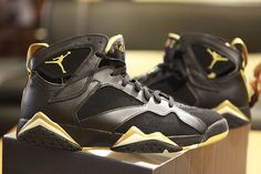5b7a9e42e5ff Nike Air Jordan VII Retro 7 ONLY Golden Moments SPLIT Pack Sz. 8.5 11 Black  Gold