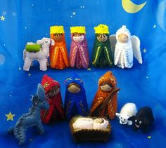 Waldorf-inspired Nativity Set - by saintsandspinners.blogspot