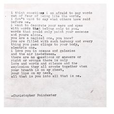 The Universe and Her and I #244 written by Christopher Poindexter (For sale on Etsy. Link to buy in bio)