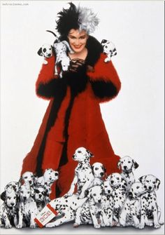 Cruella deville costume inspiration from 1996 remake