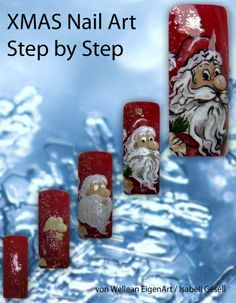 XMAS Nail Art Step by Step