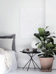 77 Gorgeous Examples of Scandinavian Interior Design Light-Scandinavian-room-with-plant