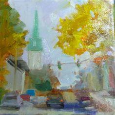 "Daily+Paintworks+-+""Fall+Day""+-+Original+Fine+Art+for+Sale+-+©+Carol+Josefiak"